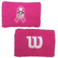 "Wilson 2"" Pink Wristbands with NFL Breast Cancer Awareness Logo"